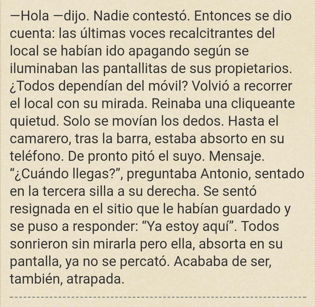 """Segunda parte del texto del microrrelato """"Atrapados"""" de Sergio Reyes Puerta"""