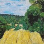 Pasteles: Cosecha en Montfoucault, de Camille Pissarro