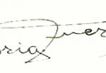 Firma de Gloria Fuertes