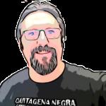 Sergio Reyes con la camiseta de Cartagena Negra