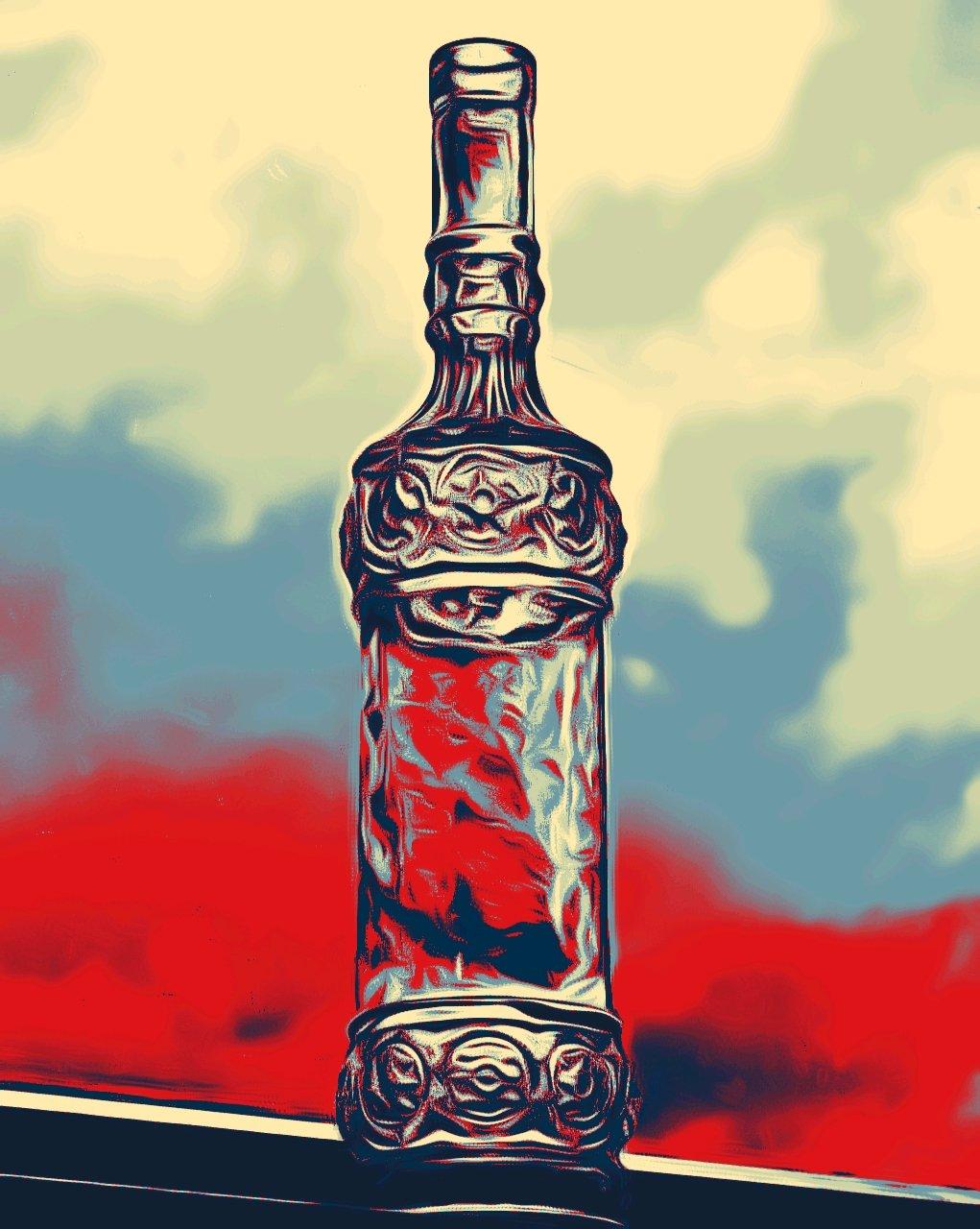 La botella de ron
