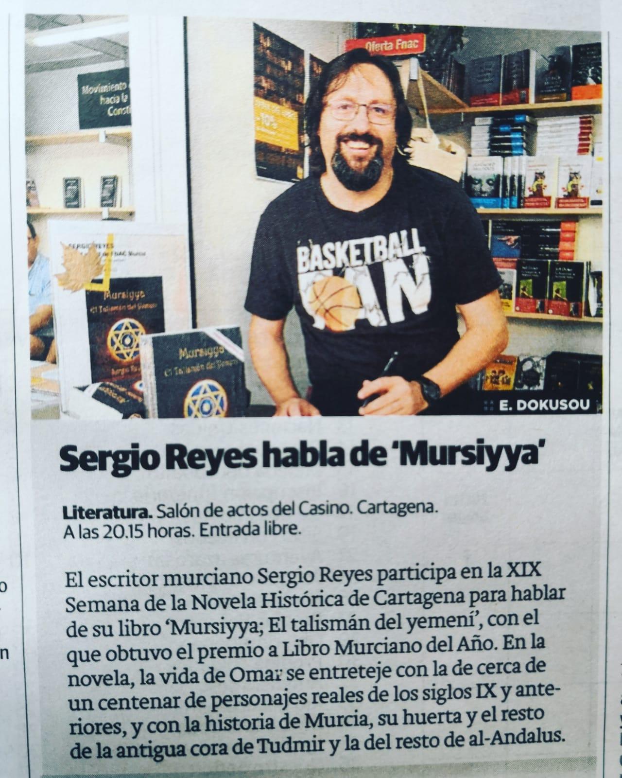 Sergio Reyes en una nota de prensa (La Verdad)