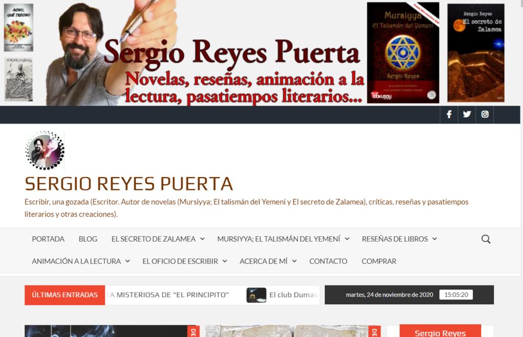 Captura de la cabecera de la nueva imagen de la web de sergioreyespuerta.com