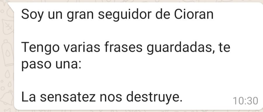 Frase de E.M. Cioran