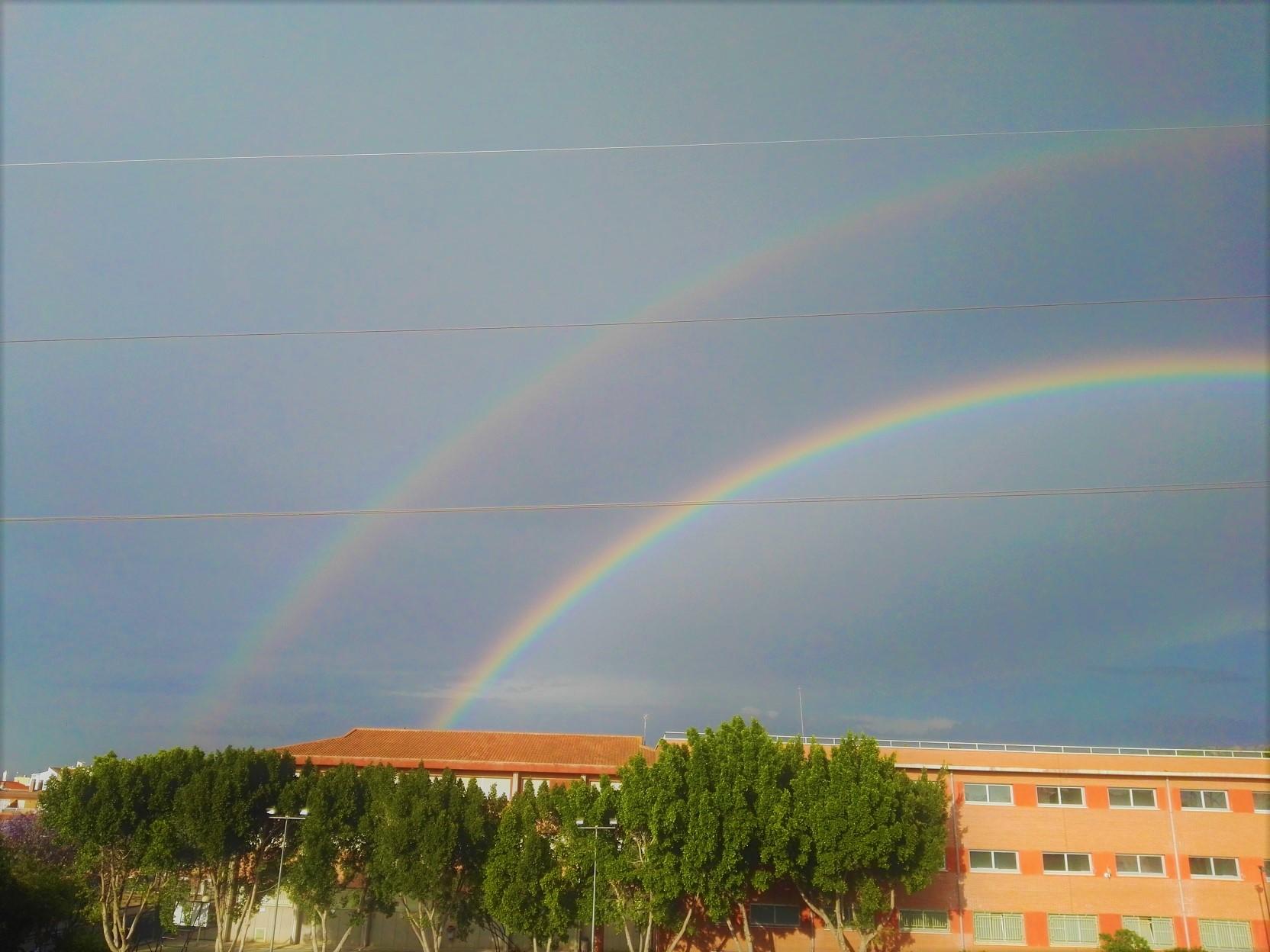 Arco iris doble en Murcia