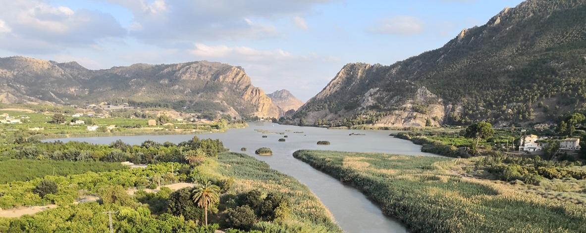 Río Segura a su paso por Blanca