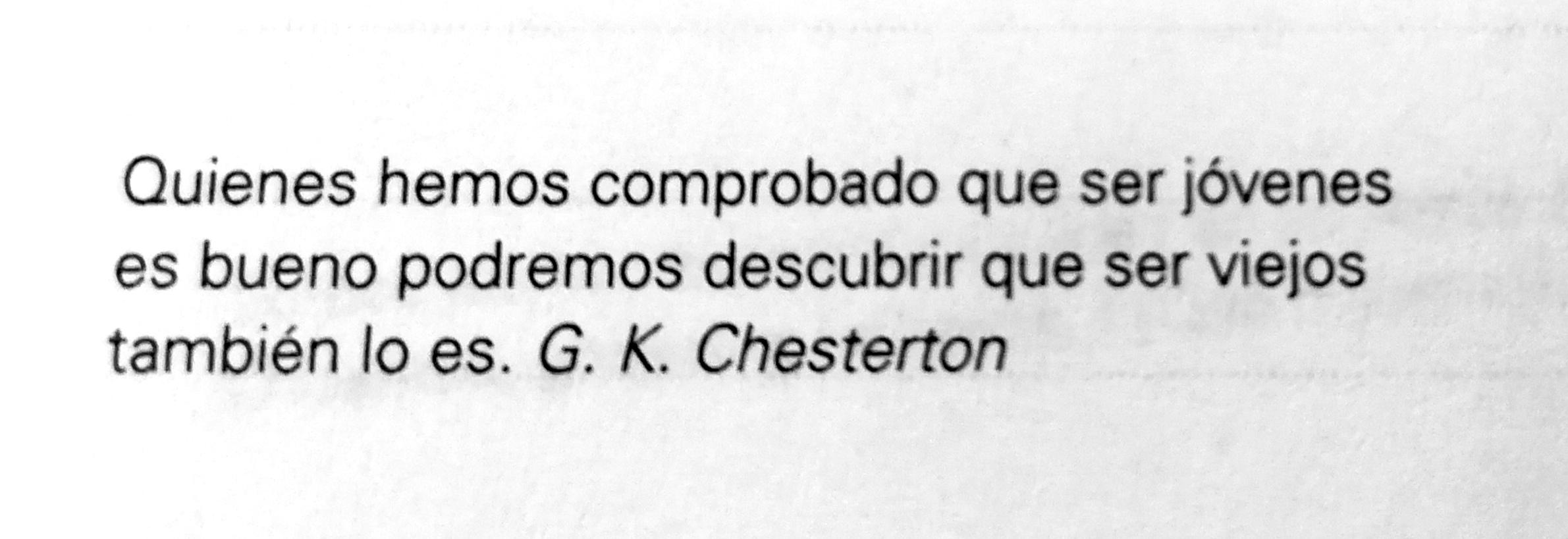 Frase de G. K. Chesterton