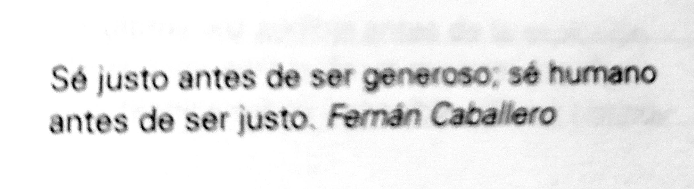 Frase de Fernán Caballero