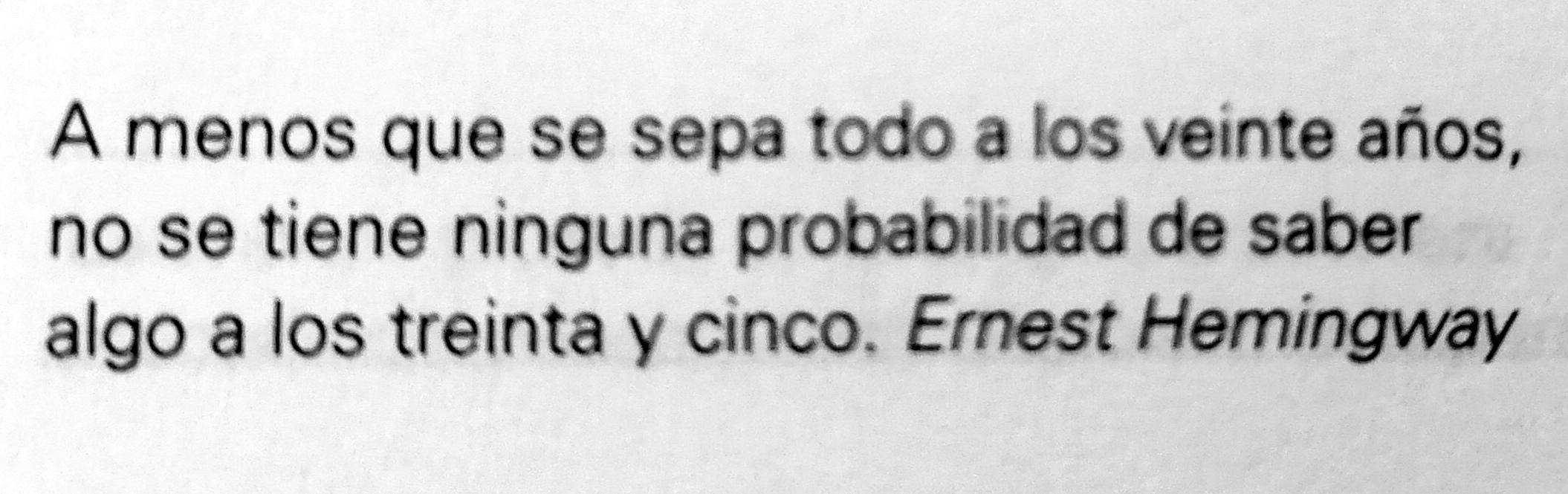 Frase de Ernest Hemingway