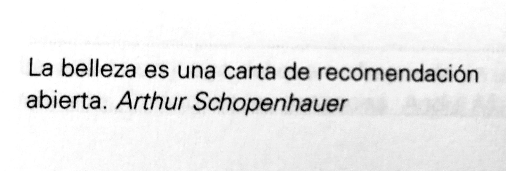 La frase de Arthur Schopenhauer