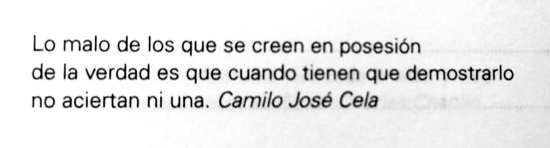 Frase de Camilo José Cela