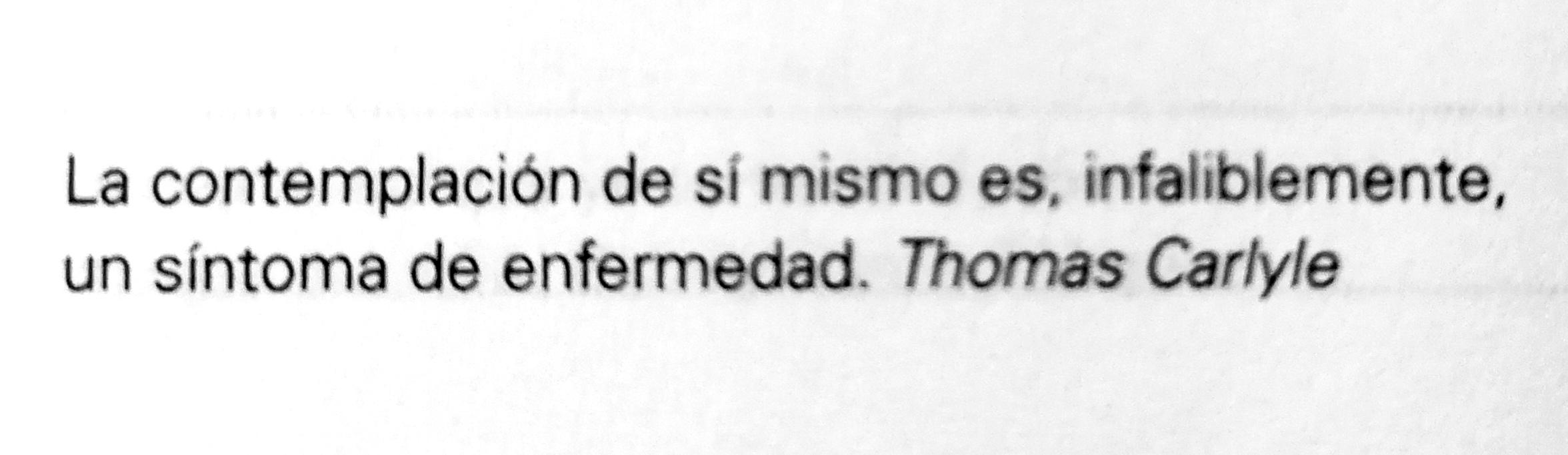 Frase de Thomas Carlyle