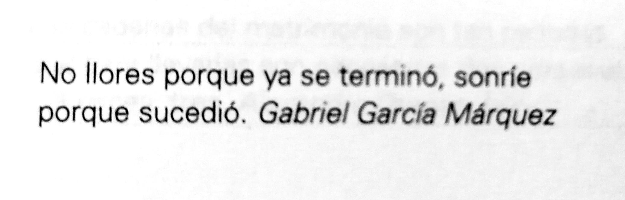 Frase de Gabriel García Márquez