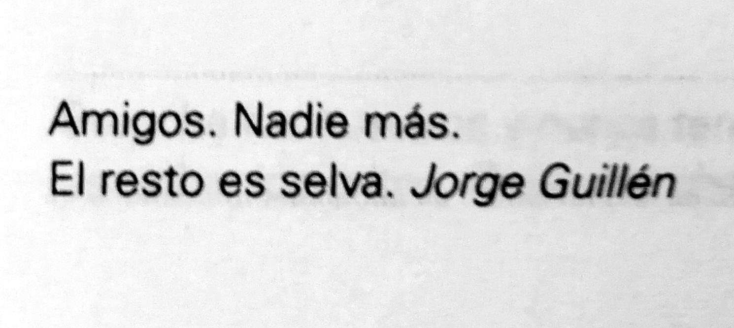 Frase de Jorge Guillén