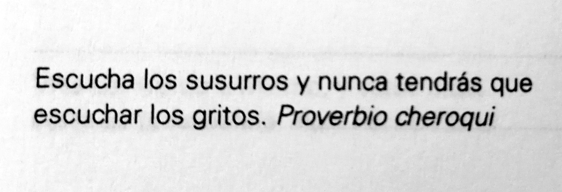 Proverbio Cheroqui