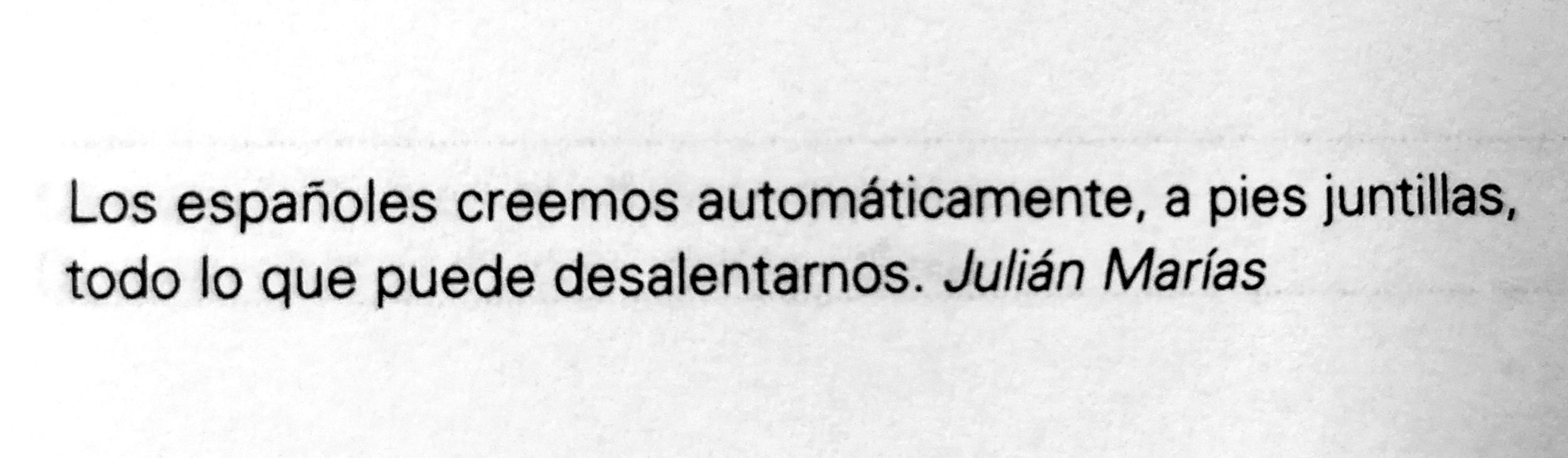 Frase de Julián Marías
