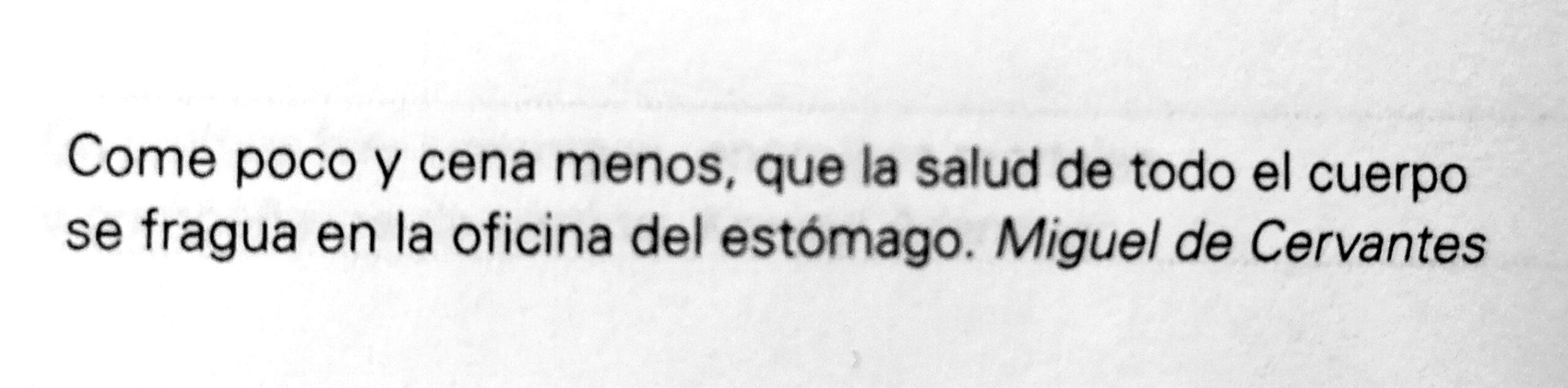 Frase de Miguel de Cervantes