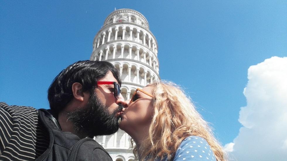 Beso en la Toscana