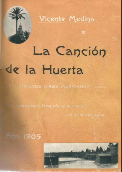 Portada de La canción de la Huerta de Vicente Medina