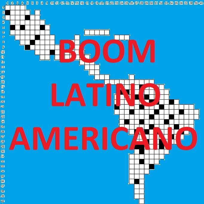 Portada del crucigrama literario del Boom latinoamericano