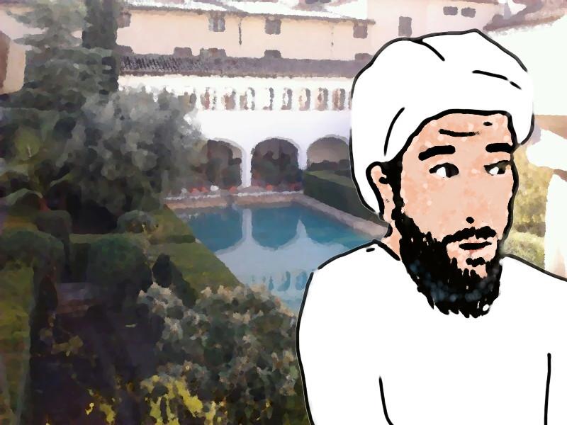 Muhammad ibn al-Faras Caracaballo en el Alcázar menor o pequeño de Mursiya (Murcia)