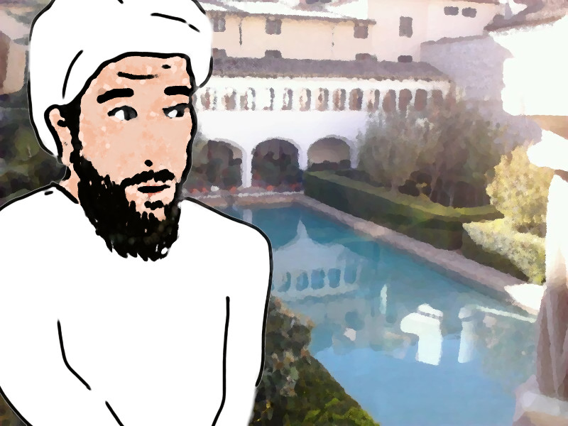 El Caracaballo en el Alcázar menor o pequeño de Mursiya (Murcia)