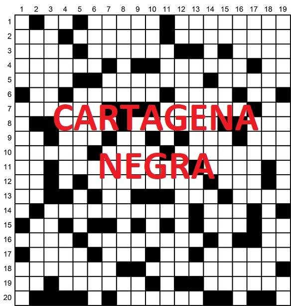 Anunciador del crucigrama literario de Cartagena negra 2021