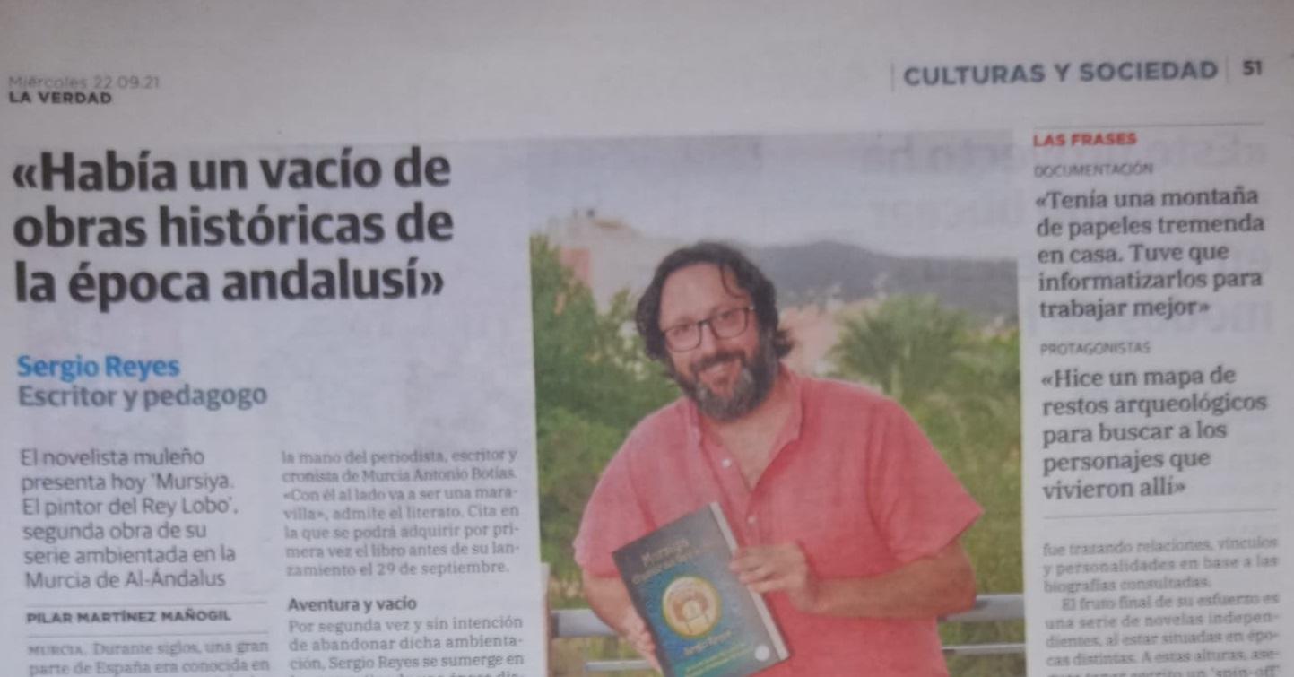 """Fragmento del reportaje en La Verdad sobre """"Mursiya. El pintor del Rey Lobo"""""""