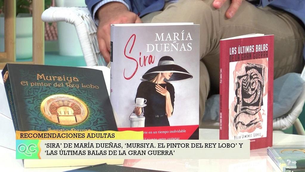 """Captura en la 7 TV de """"Mursiya. El pintor del Rey Lobo"""" junto a otras obras (Dossier de prensa 2021)"""